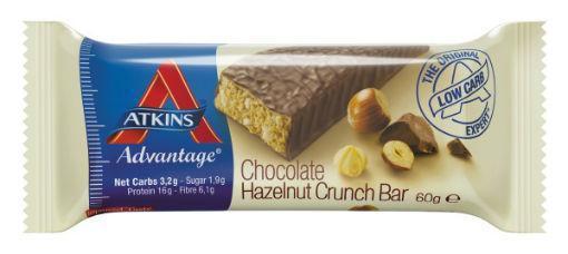 Atkins advantage reep choco hazel cru 60g